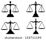 justice scales silhouette    Shutterstock .eps vector #153711194