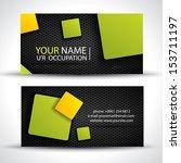 business card   green  orange... | Shutterstock .eps vector #153711197