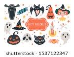 halloween holiday cute elements ... | Shutterstock .eps vector #1537122347