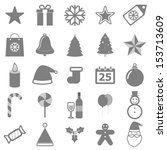 christmas icons on white... | Shutterstock .eps vector #153713609