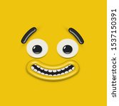 yellow high detailed emoticon...   Shutterstock .eps vector #1537150391