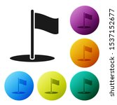 black flag icon isolated on...