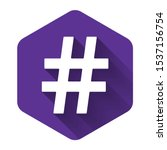 white hashtag icon isolated...