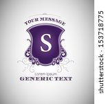purple vintage label with... | Shutterstock .eps vector #153718775