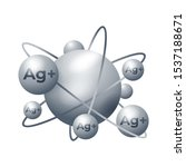silver ions ag  action 3d... | Shutterstock .eps vector #1537188671