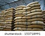 hemp sacks containing rice | Shutterstock . vector #153718991