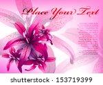 pink floral vector background.... | Shutterstock .eps vector #153719399