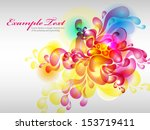 floral colorful background | Shutterstock .eps vector #153719411