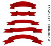 red ribbons flags | Shutterstock .eps vector #153719711