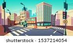 city road turn  empty street... | Shutterstock .eps vector #1537214054