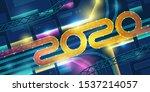 2020 transport interchange in... | Shutterstock .eps vector #1537214057