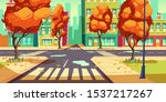 city crossroad in autumn time ... | Shutterstock .eps vector #1537217267