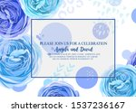 floral invitation with gentle... | Shutterstock .eps vector #1537236167