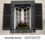 Old Window With Wooden Shutters ...