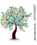 vector illustration of spring... | Shutterstock .eps vector #153724307