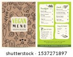 vegan restaurant menu. green... | Shutterstock .eps vector #1537271897