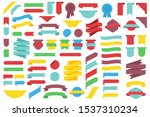 set of decorative ribbons.... | Shutterstock .eps vector #1537310234