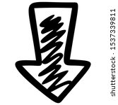 right arrow hand drawn...   Shutterstock .eps vector #1537339811