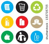 recycling icon set | Shutterstock .eps vector #153735755