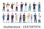 profession set. collection of... | Shutterstock .eps vector #1537357574