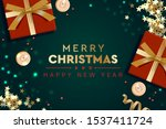 2020 happy new year and merry... | Shutterstock .eps vector #1537411724