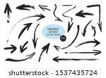 set of different grunge brush... | Shutterstock .eps vector #1537435724