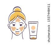 facial skin scrubbing color...