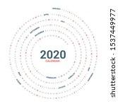 calendar 2020 round spiral... | Shutterstock .eps vector #1537449977