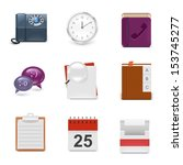 universal office vector icon set | Shutterstock .eps vector #153745277