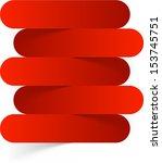 vector illustration of red... | Shutterstock .eps vector #153745751
