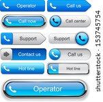 phone blue design elements for... | Shutterstock .eps vector #153745754