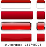 set of blank red buttons for... | Shutterstock .eps vector #153745775