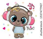 cute cartoon teddy bear girl... | Shutterstock .eps vector #1537477907