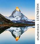 Switzerland. Alpenglow On...