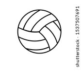 volleyball icon vector....