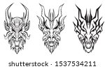 Silhoutte Of The Dragon Heads...