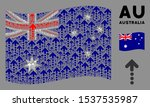 waving australia flag. vector...