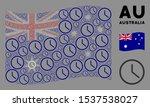 waving australia state flag.... | Shutterstock .eps vector #1537538027