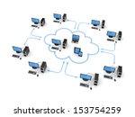 cloud computing concept... | Shutterstock . vector #153754259
