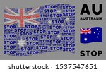 waving australia official flag. ...