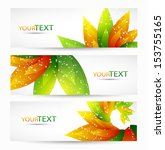 abstract vector eps10 headers... | Shutterstock .eps vector #153755165