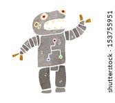 retro cartoon robot   Shutterstock . vector #153755951