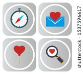 4 icon set of universal  for... | Shutterstock . vector #1537596617