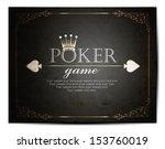 poker background   Shutterstock .eps vector #153760019