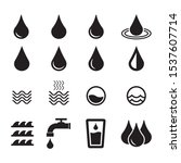 water icon  drop icon. design... | Shutterstock .eps vector #1537607714