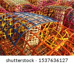 Old Fishing Cages Stacked In...