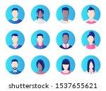 avatar set. group of working... | Shutterstock .eps vector #1537655621