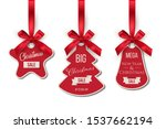 christmas sale tags set. big... | Shutterstock .eps vector #1537662194