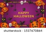 happy halloween banner with... | Shutterstock .eps vector #1537670864