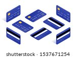 credit card isometric icons big ... | Shutterstock .eps vector #1537671254